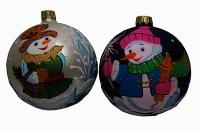 Стеклянный шар d90мм Снеговик 90037 Полимер