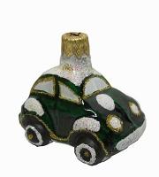 """Новогодняя игрушка формовая стекло 4,5см """"Машинка"""" 1110"""