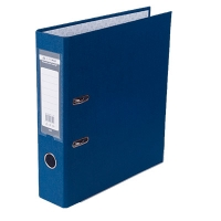 Папка регистратор А4 Jobmax LUX 70мм синяя сборная BM.3011-03c
