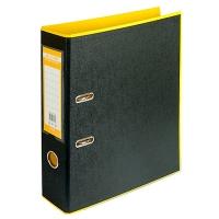 Папка регистратор А4 Style 70мм желта-черная собранная BM.3005-08c