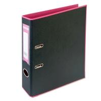 Папка регистратор А4 Style 50мм розова-черная собранная BM.3006-10c