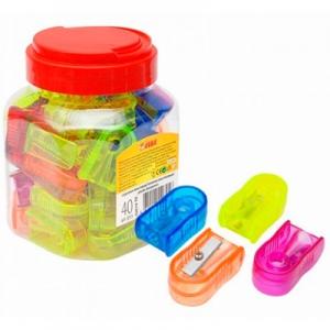 Точилка пластик 40шт в банке 52614-TK