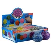 Игрушка резиновая антистресс Squeezebolls  Шар цветной 5-4 (2615)