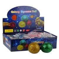Игрушка резиновая антистресс Galaxy Squeeze Вall блестки 5-7 (2615)