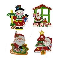 Новогодняя подвеска Дед мороз,снеговик,окошко 5-29 (6167)