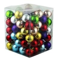 Набор елочных игрушек пластик 5см 101шт микс цветов 91389-PN