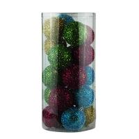 Набор елочных игрушек пластик 8см 20шт микс цветов 91460-PN