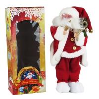 Новогодняя фигура Санта музыка+движение h40см Pioner 92240-PN