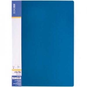 Папка А4 с боковым прижимом Economix Clip В Light синяя Е31208-02