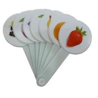 Веер цвета и фрукти