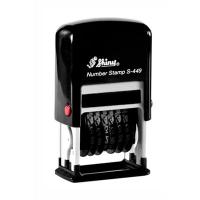 Нумератор мини пластиковый 9-ти разрядный чорный 4мм S-449