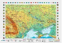Украина. Смотровая М1:2 350 000 настенна 65*45см укр картон