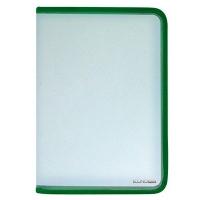 Папка В5 на молнии пластиковая зеленая Е31609-04