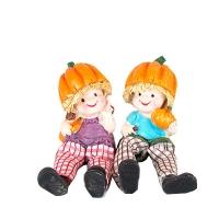 """Статуетка """"Мальчик и девочка"""" керамика/ткань арт. 8907 (2шт/комплект) 6-74 (7081)"""