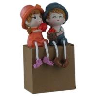 """Статуетка """"Мальчик и девочка"""" керамика (2шт/комплект) арт. 9740 6-76 (7081)"""