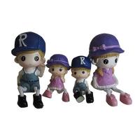 """Статуетка """"Мальчик девочка"""" в упак 4 шт (2 больших и 2 малых) Цена за упак  F2011 6-82 (7081)"""