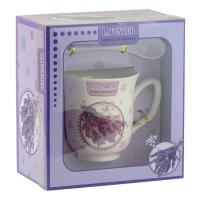 Набор подарочный Чашка +ложка лаванда 92279-PN