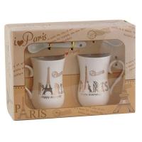 Набор подарочный Чашка +ложка 2шт Paris 92300-PN