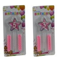 Свеча для торта цифра звезда 9-214 (6605)