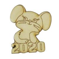 Фанера Мышонок 2020 №14 62*72мм + магнит В-0396