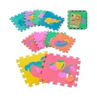Коврик-Мозайка (12шт) EVA фрукты-животные 10шт 30*30см  М0376 7 toys