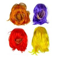 Парик цветной фиолет,желтый,красный,оранжевый 5-146 (6216)