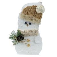 Снеговик-подставка дерев. (115)