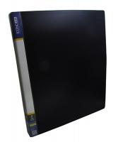 Папка А4 на 2 кольца Economix пластиковая черная Е30701-01