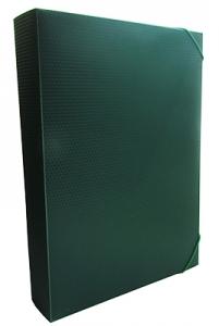 Папка бокс А4 40мм на резинках зеленый Е31402-04