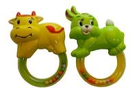 Погремушка в ручку Зайчик и Коровка 2 вида, в пакете 12см 2240A/D 7 toys