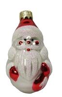 """Новогодняя игрушка формовая стекло 9см """"Дед Мороз"""" 1001"""