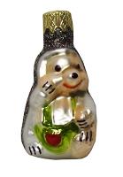 """Новогодняя игрушка формовая стекло 6,5см """"Ёжик"""" 1128"""