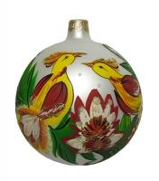 Стеклянный шар d90мм Зимний этюд 90445 Полимер
