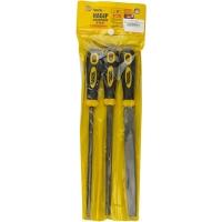 Набор напильников по металлу 3 шт 200 мм плоский/круглый/трёхгранный Master Tool 06-0210
