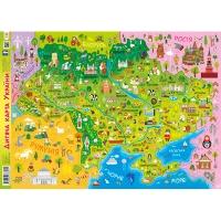 Плакат А1 детская карта Украины 92804