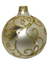 Стеклянный шар d80мм Ажур декоративный 80553 Полимер