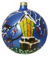Стеклянный шар d100мм Фонарик 100586 Полимер