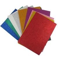 Фоамиран 10 цветных листов с блеском EVA материал 20*30см 1,5мм клейкая основа ТІКІ 50926-ТК