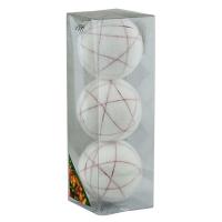 Набор елочных игрушек пластик 8см в упак 3шт 92163-PN