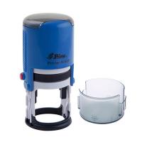 Оснастка автомат для круглой печати d 32мм синяя  R-532