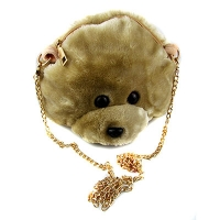 Сумка детская Медведь меховая 1-463 (10878)