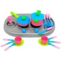 Плита с мойкой и посудой в корзине KW-04-409