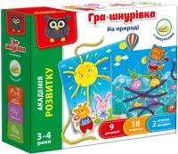 Игра шнуровка с липучками На природе укр  VT5303-10