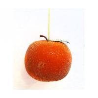 Новогодняя игрушка Мандарин 8см пластик 90368-PN