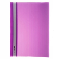 Скоросшиватель А4 Economix глянец фиолетовый без перфорации Е31511-12