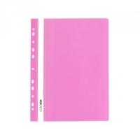 Скоросшиватель А4 Economix глянец розовый с перфорацией E31510-09
