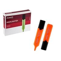Маркер текстовый Axent Highlighter 1-5мм клиновидный оранжевый 2531-12-А