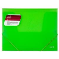 Папка на резинке А4 Axent прозрачная зеленая 1501-26-А