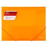 Папка на резинке А4 Axent прозрачная оранжевая 1501-25-А