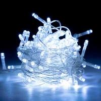 Гирлянда электрическая белая, синяя, розовая, красная, фиолет 200л LED 5-264  6-183 (6366)